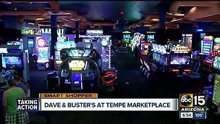 Dave & Buster's Tempe marketplace offering Father's Day deal - Video