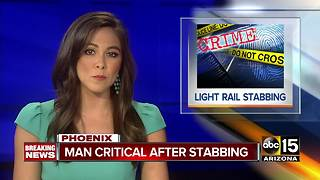 Fight leads to stabbing at Phoenix light rail platform - Video