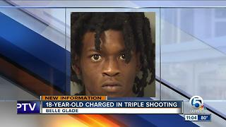 18-year-old charged in Belle Glade shooting - Video