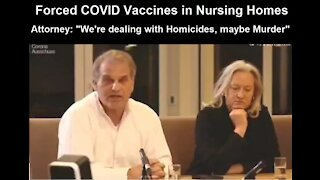 Forced COVID Vaccinations German Nursing Homes! Attorney: 'We're Dealing With Homicide!'