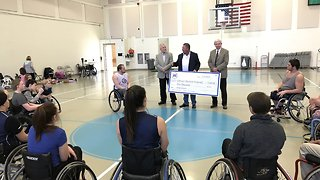 Contact7 getting results: $2K wheelchair donation followed by $5K wheelchair basketball donation