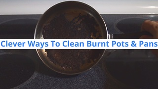 Here Is How To Clean That Burnt Layer From The Bottom Of Your Pan - Video