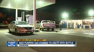 Fatal stabbing at Ramona gas station under investigation - Video