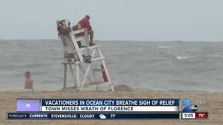 Vacationers in Ocean City relieved area will dodge Hurricane Florence