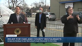 Oakland County pledges $10 million in relief for bars and restaurants