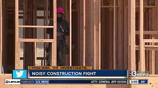 Neighbors fed up with early morning construction - Video