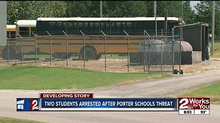 Two arrested in connection with school threat