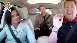 Demi Lovato & Nick Jonas Go For Hilarious Ride In 'Late Late Show' 'Carpool Karaoke'