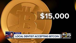 Tempe dentist now accepting bitcoin payment - Video