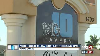 Cape City Council considering extending bar hours
