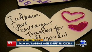 Love notes for first responders in Wheat Ridge
