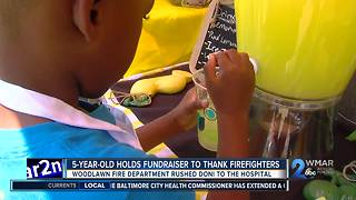 5-year-old holds fundraiser to thank firefighters