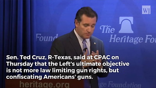 Cruz Exposes What Left Really Wants When It Comes to School Shootings - Video