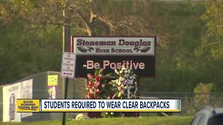 Stoneman Douglas students will be required to carry clear backpacks provided to them at no cost - Video