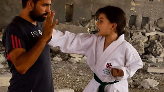 This Syrian Girl Turned to Karate Since the War Started - Video