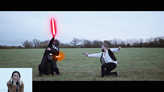 Star Wars Fan Makes Ultimate Marriage Proposal - Video