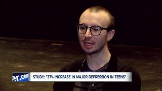 New study: serious rise in teen depression - Video