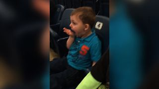 Boy Has Adorable Reaction To First Concert - Video