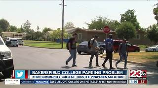 Kern Community College trustee, Kyle Carter, suggests tiered fee parking to solve parking headache near Bakersfield College - Video