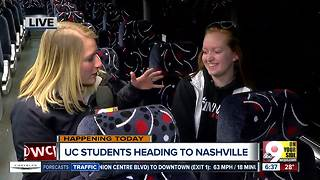 University of Cincinnati students head to Nashville to cheer on Bearcats - Video