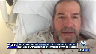 Local teachers donating sick days on 'Today' show