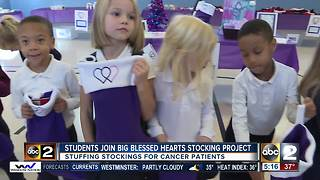 Big Blessed Hearts stuff stockings for cancer patients - Video