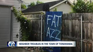 Town of Tonawanda neighborhood spat boils over - Video