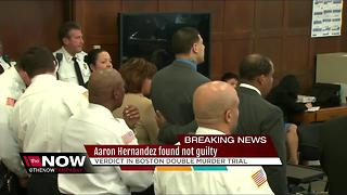 Aaron Hernandez found not guilty in double murder trial - Video