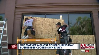 Old Market Ghost Town During Day: Businesses Close Down Early