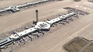Denver International Airport mostly empty during COVID-19 outbreak