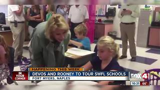 DeVos and Rooney to Tour SWFL Schools - Video