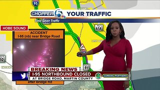 Crash shuts down I-95 NB in Martin County