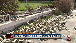 Debris guidelines in Fort Myers - Video