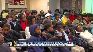 Parents, community speak out on possible city school closings - Video