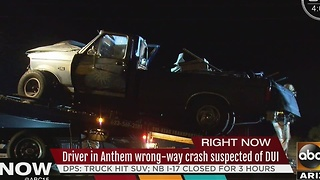 Another? Wrong-way driver causes head-on crash on I-17 Tuesday morning - Video