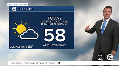 Metro Detroit Forecast: Warming up going into the weekend