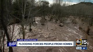 Flooding forces people from homes near Lake Montezuma