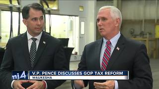 VP Pence in Wisconsin to talk tax reform plan - Video