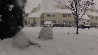 Time lapse video captures Northeast snowfall