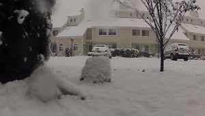 Time lapse video captures Northeast snowfall - Video