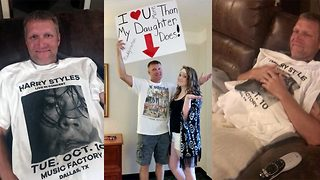 One direction loving dad overwhelmed by gift of Harry Styles tour t-shirt