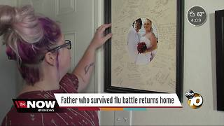 Flu survivor returns home - Video