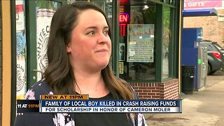 Family of 10-year-old killed in crash founds scholarship