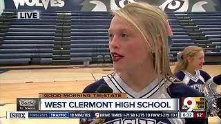 West Clermont High School cheerleaders perform - Video