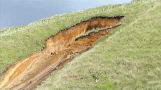 Spectacular Landslide at Papamoa Hills Regional Park in New Zealand - Video