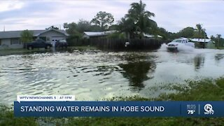 Standing water remains in Hobe Sound