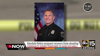 Glendale officer recovering after shooting - Video
