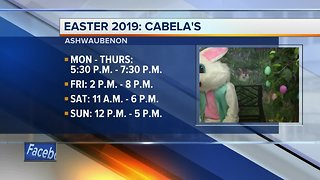 The Easter Bunny is visiting Cabela's all week