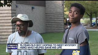 15-year-old who went into cardiac arrest searches for hero who saved his life - Video