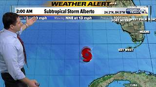 Tropical Storm Alberto at 3 a.m. Sunday - Video
